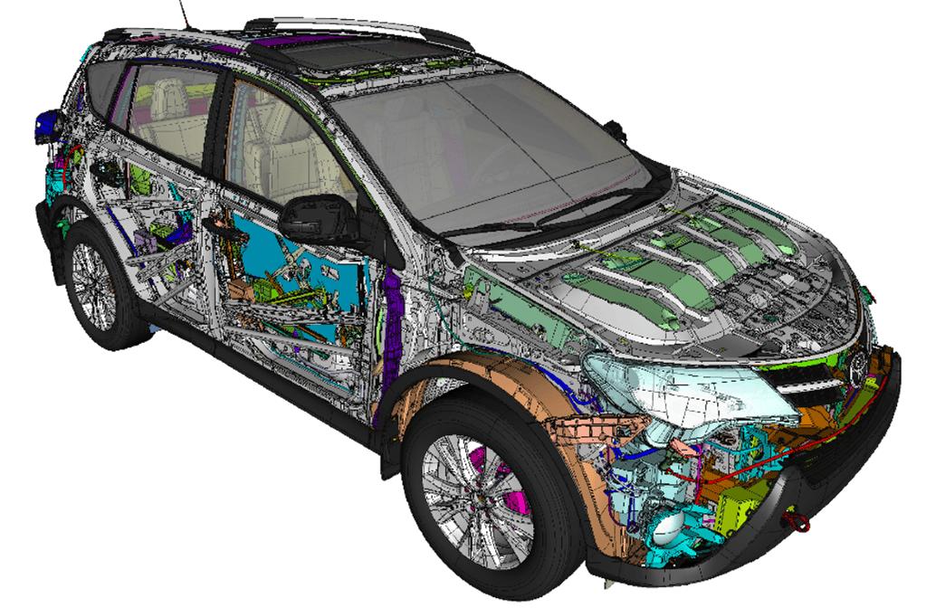 Full vehicle assembly - Courtesy of Toyota